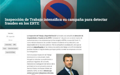 Observatorio de Recursos Humanos – Inspección de Trabajo intensifica su campaña para detectar fraudes en los ERTE