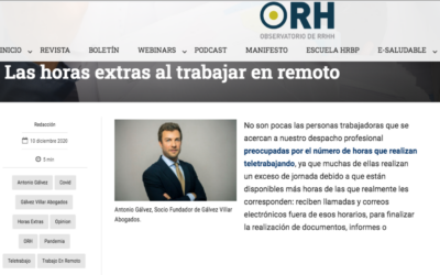 ObservatorioRH – Las horas extras al trabajar en remoto